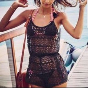 NWT!  Victoria's Secret Swim Cover Crochet Romper